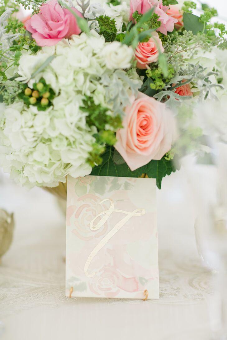 Elegant Floral Paper Table Numbers