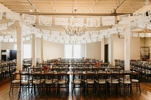 Wedding Reception in Fort Worth, Texas, with Picado Banners
