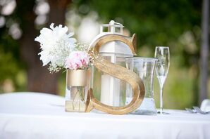 Gilded Initial Centerpiece Decor