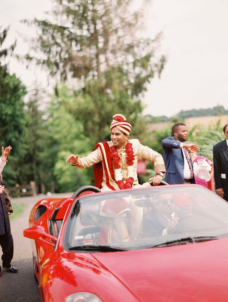Modern Baraat with Luxury Car