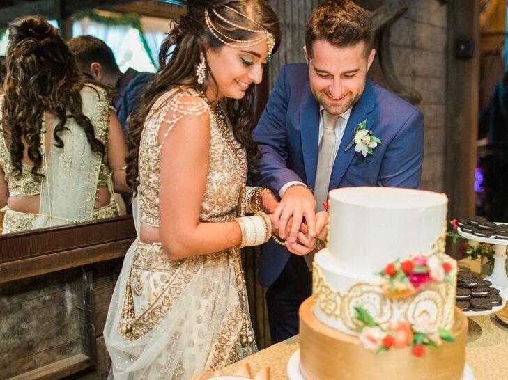 Cake Cutting at a Hindu-Jewish Wedding