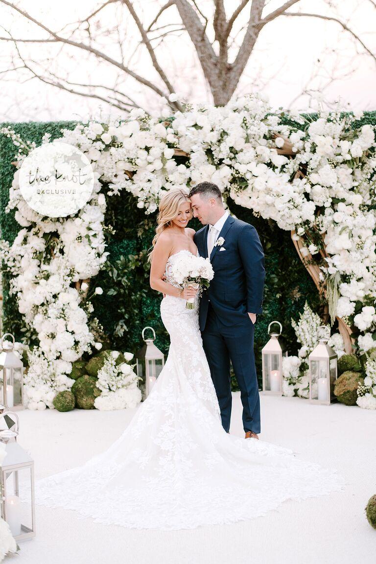alex bregman wedding couple poses adorably