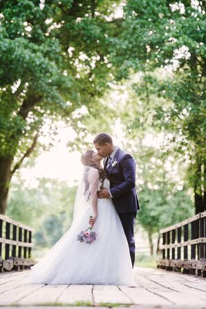 Bride and Groom at Mount Ida Farm