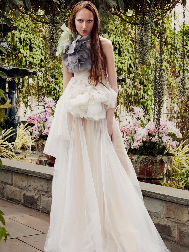 Vera Wang Spring 2020 Bridal Collection wedding dress with oversize ruffles
