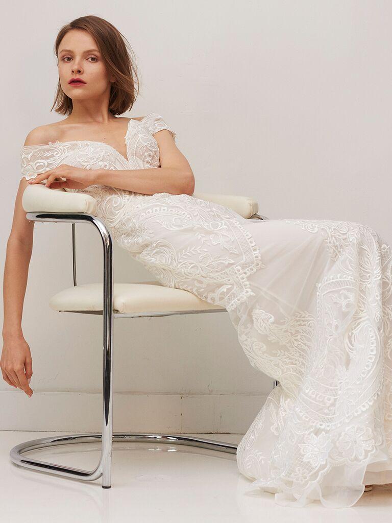 Rivini by Rita Vinieris off-the-shoulder sheath dress