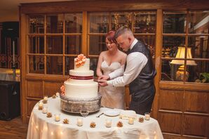 Classic Three-Tier Ivory Wedding Cake