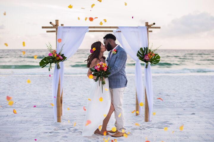 Outdoor Wedding Reception Beach