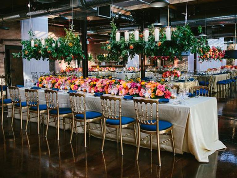 Wedding reception table