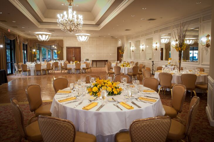 Yellow Accented Breakers West Country Club Reception Decor