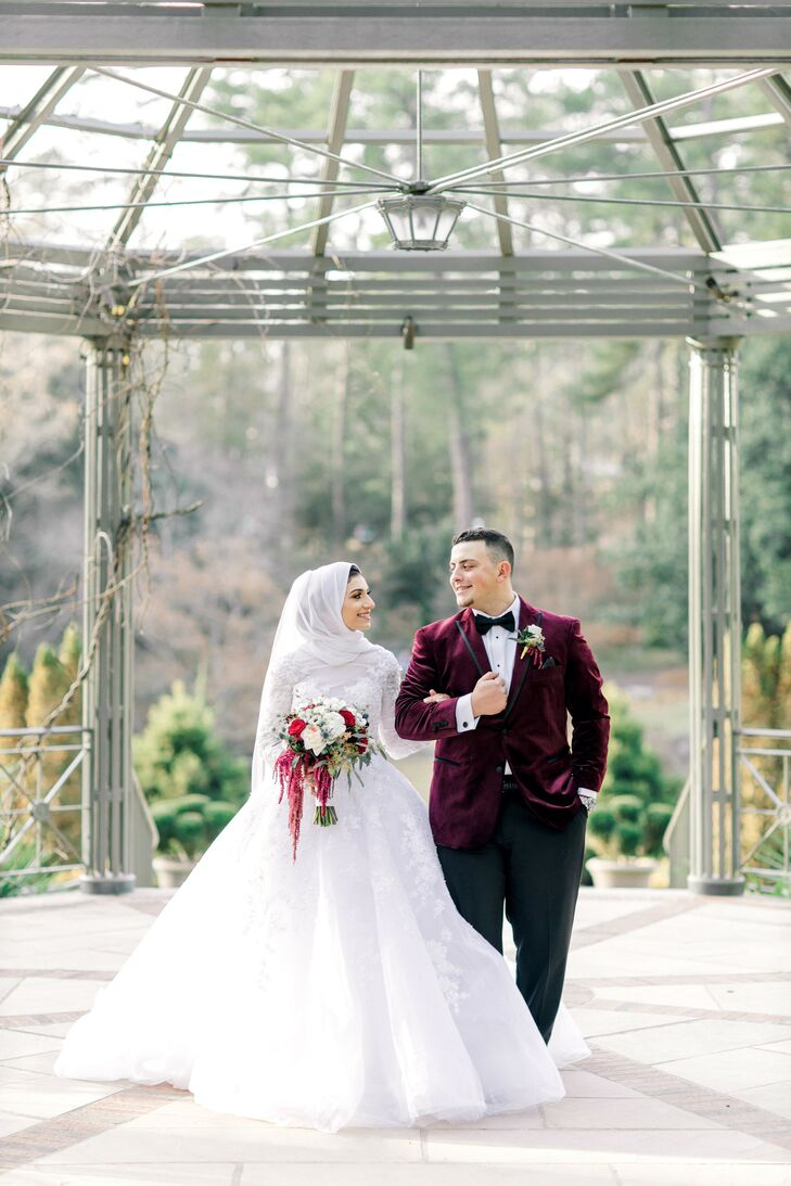 "For Deema and Khaled it was love at first sight, at a grocery store! ""Believe it or not, I met Khalid at a Harris Teeter about 9 years ago. I never th"