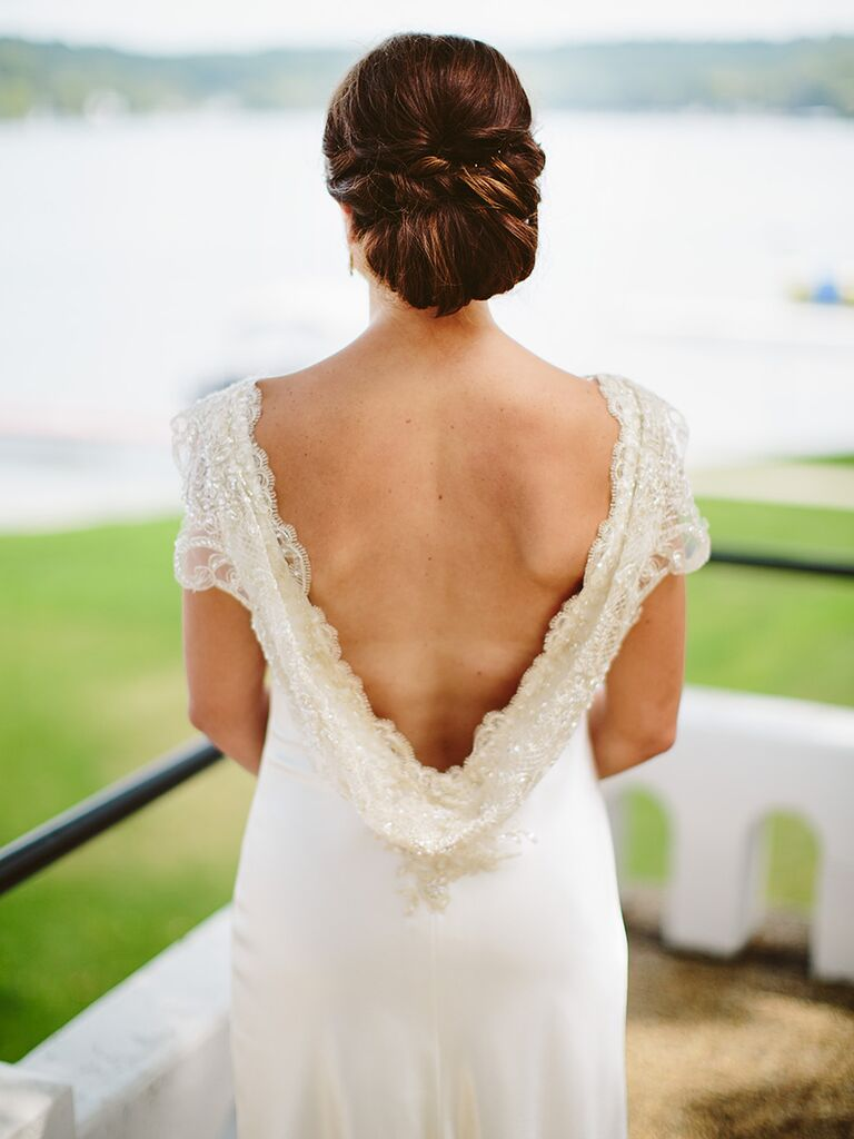 Tucked wedding updo