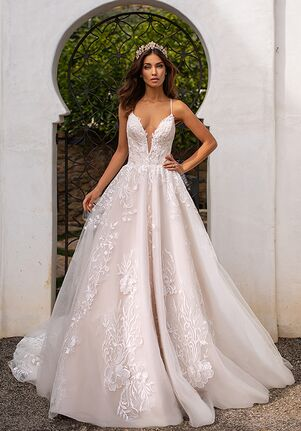 Moonlight Couture H1395 A-Line Wedding Dress