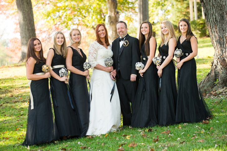 Black Floor-Length Bridesmaid Dresses