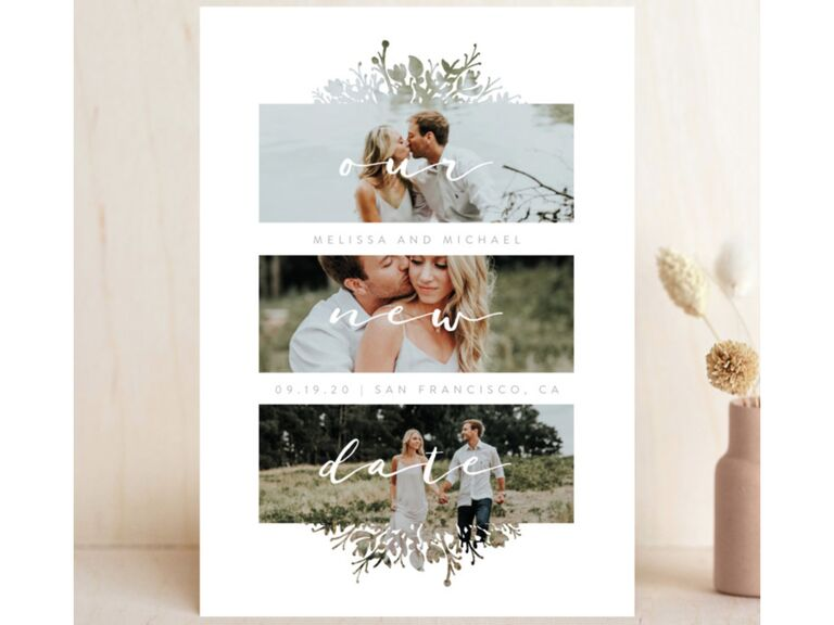 Wedding Postponement Card Minted