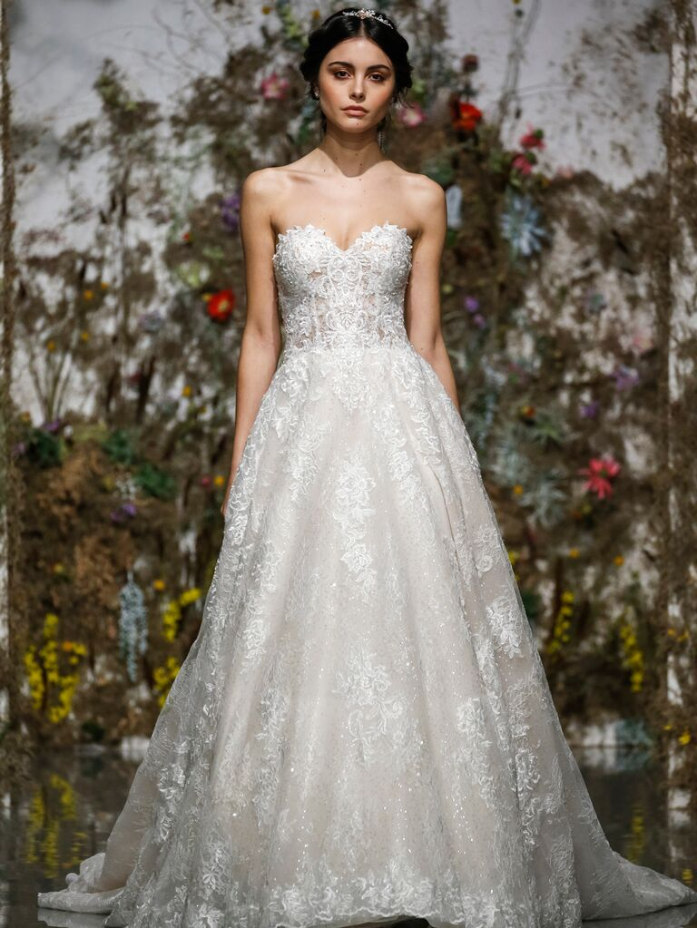 Morilee by Madeline Gardner Spring 2020 strapless lace A-line wedding dress
