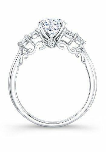 Natalie K Round Cut Engagement Ring