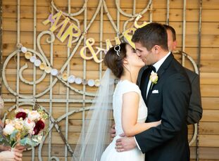 Stephanie Smith and Philip Schumacher wanted a natural and romantic feel for their wedding. The bouquets and boutonnieres were made of blush pink and