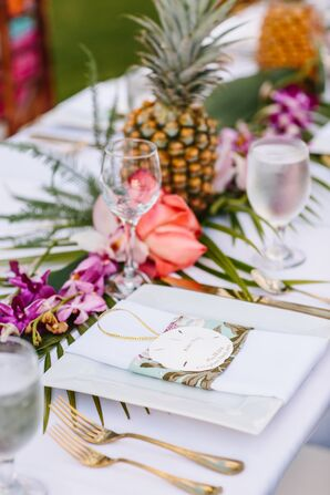 Tropical and Beach-Inspired Place Settings