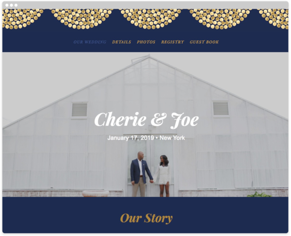 gold confetti navy get started gold confetti navy gilt agate wedding website template the knot