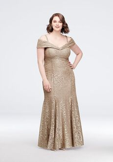 David's Bridal Mother of the Bride R&M Richards Style 2047W Gold Mother Of The Bride Dress