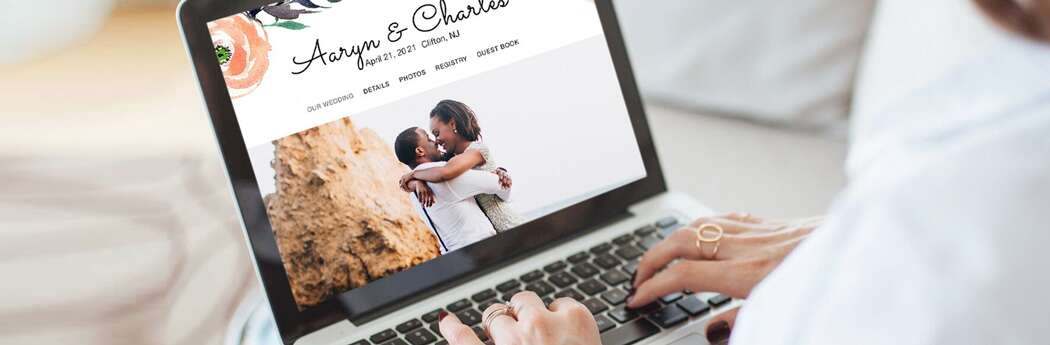 Exactly How and When to Share Your Wedding Website