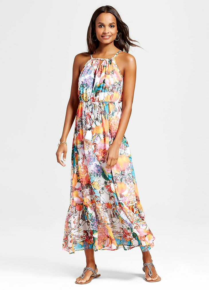Fl Maxi Beach Wedding Guest Dress