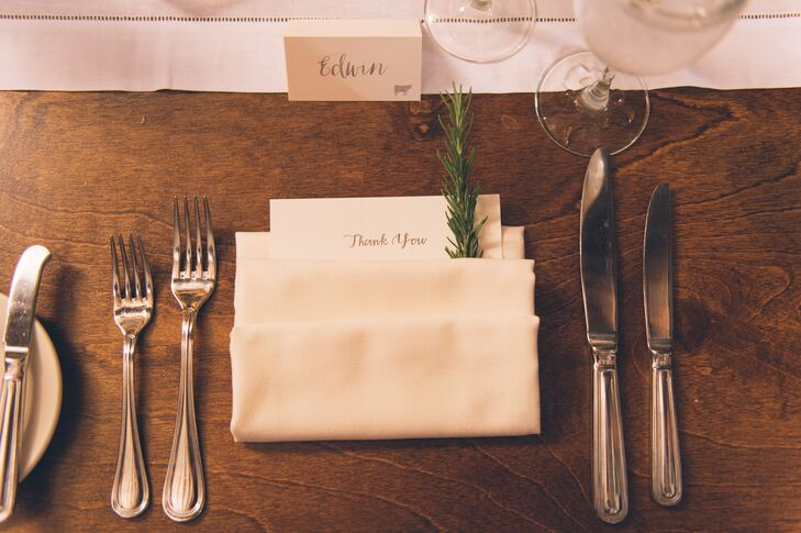 Simple Exposed Farm Table Place Settings