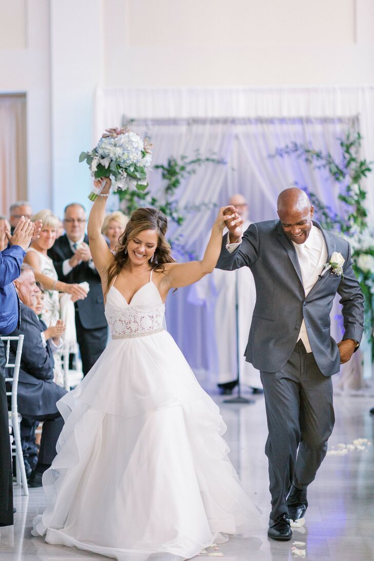 Cassandra and Michael wanted their wedding to have an ethereal feel so the vaulted ceilings and bright, airy atmosphere of The Vault in Tampa, Florida