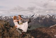 Jenna Nicols and Halvor Norris met while skiing with mutual friends, so getting hitched at a ski resort was an obvious choice for the adventurous pair