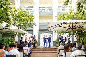 Outdoor Same-Sex Ceremony at the Kimpton Brice Hotel in Savannah