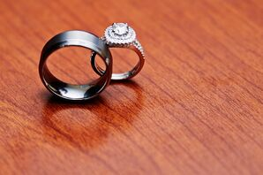 Traditional Set of Silver Wedding Rings