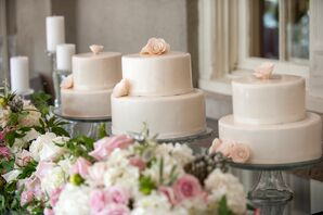 Ivory Two-Tier Cakes