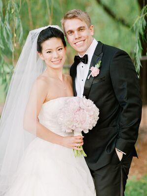 Natural Romantic Bridal Attire and Makeup