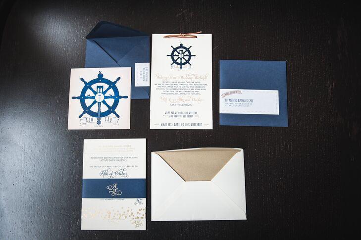 Customized Ship Wheel Invitation Suite