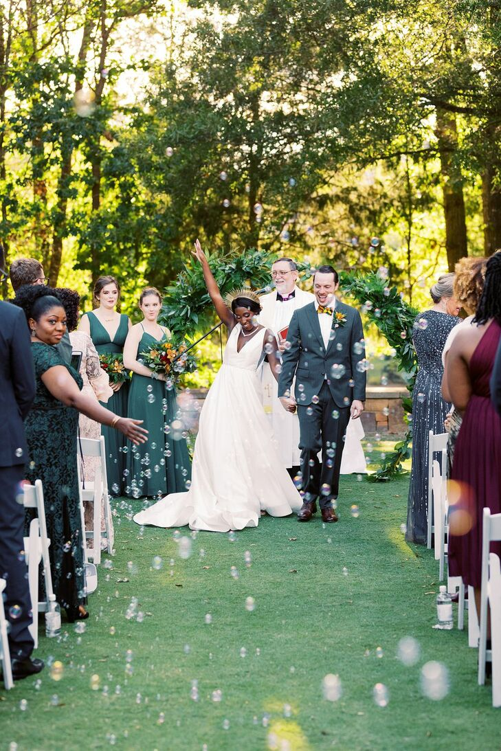 Bubble Recessional at Ballantyne Country Club Wedding in Charlotte, North Carolina