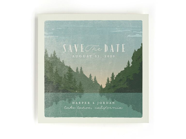 Minted nature destination wedding save-the-date