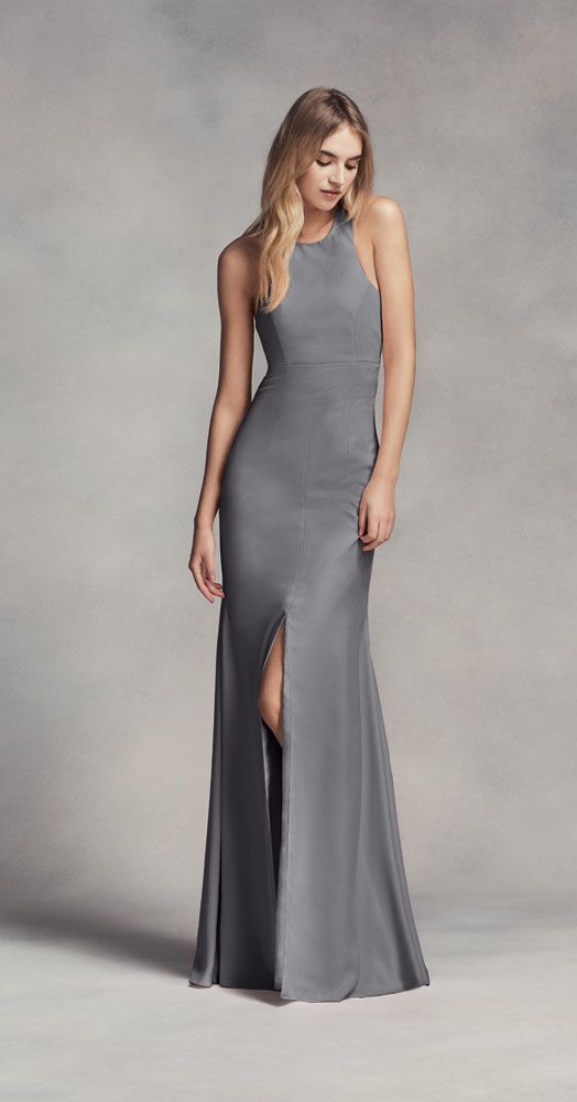 Grey Bridesmaid Dress By White Vera Wang