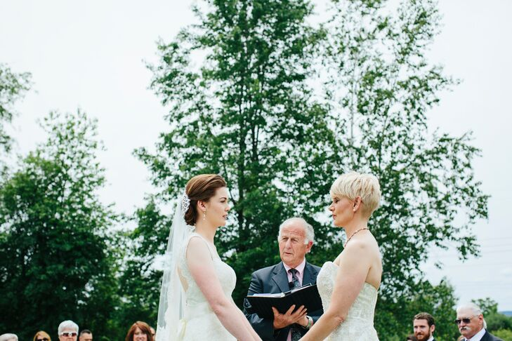 The couple worked with their officiant, a family friend, to create an intimate, personal ceremony.