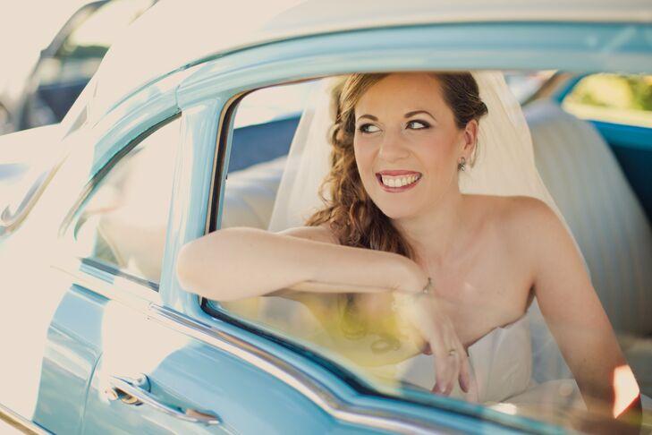 Sky Blue Vintage Getaway Car