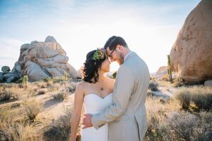 Rustic Couple at 29 Palms Inn in Twentynine Palms, California