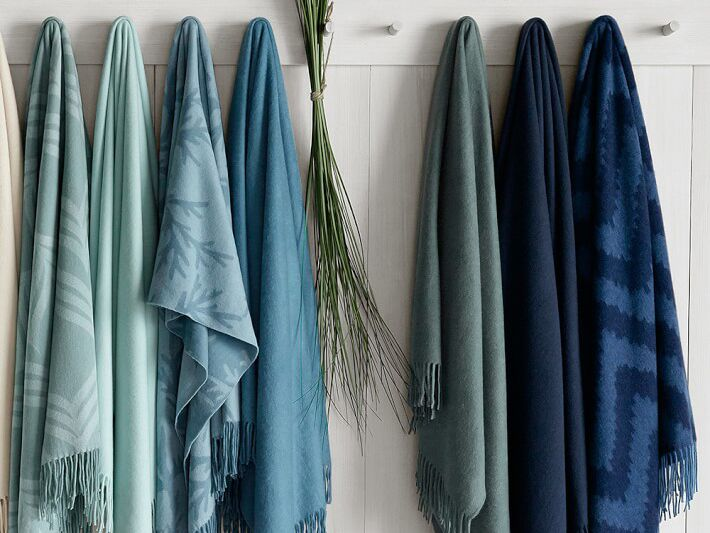 Cashmere throw blanket from Williams-Sonoma