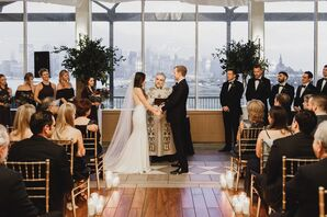 A Modern, Intimate Ceremony in The Liberty House Restaurant