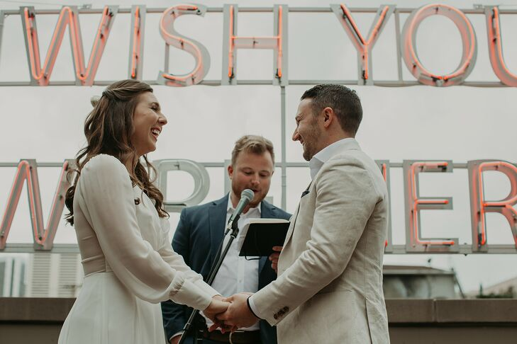 Elegant Rooftop Ceremony at The Ramble Hotel in Denver, Colorado
