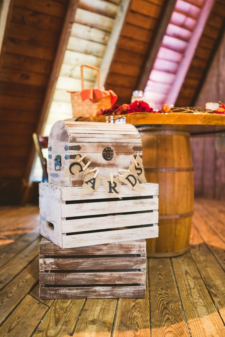 Rustic Wood Reception Card Box