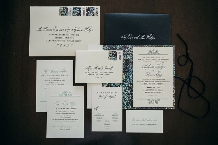 Simple and Elegant Black-and-White Invitations with Calligraphy