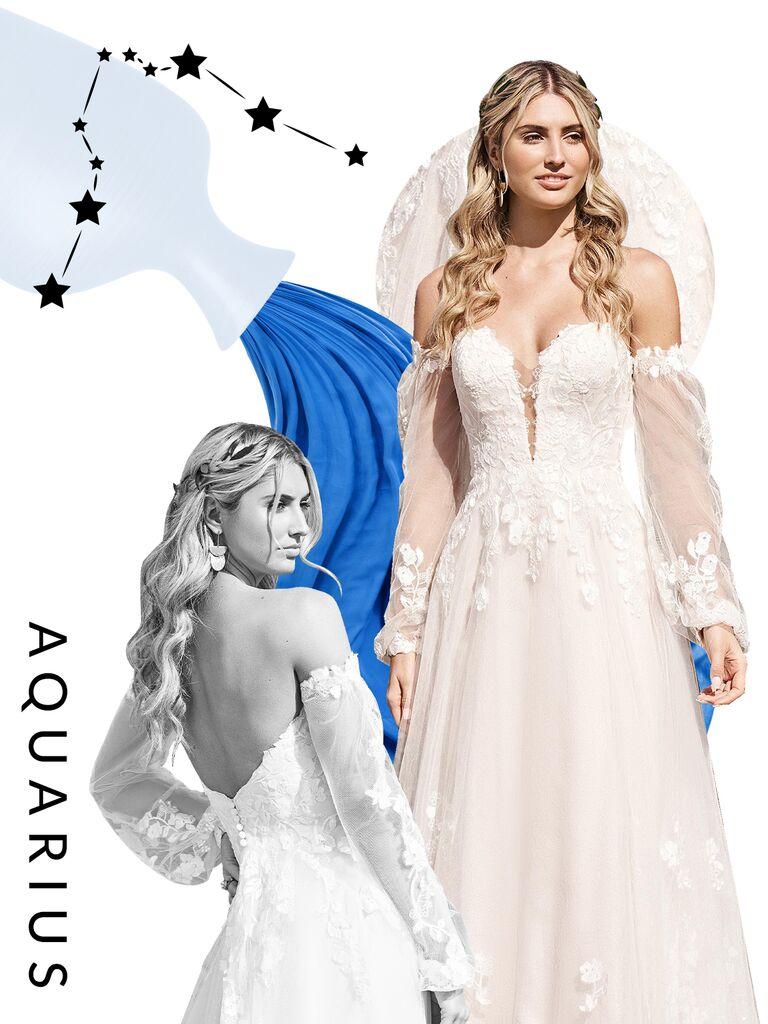 Aquarius wedding dress