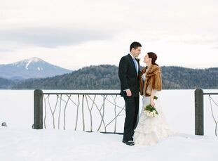 Gina and Manuel embraced the season and included warm, cozy touches at their winter wedding celebration in Lake Placid.