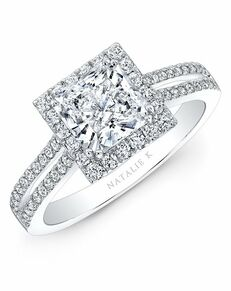 Natalie K Princess Cut Engagement Ring