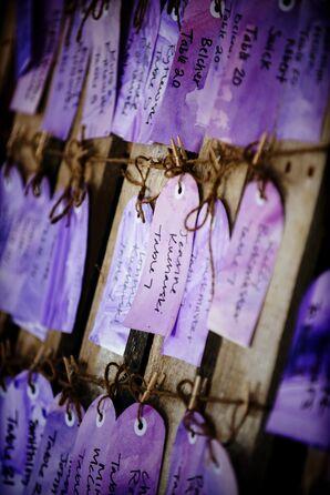 Purple Watercolor Escort Tags