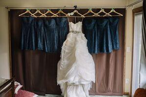 Strapless Ivory Wedding Dress, Crystal Belt